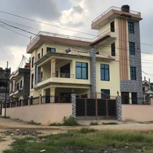 Land house apartment for sell or rent at thali for Nepali house design